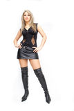 Pretty woman in leather Royalty Free Stock Photo
