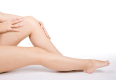 Pretty woman legs Stock Photo
