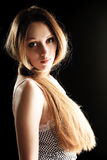 Pretty woman with long hair Stock Photography