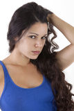 Pretty woman look looking Royalty Free Stock Photos