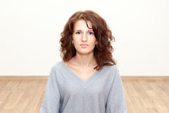Pretty woman looking at camera, copyspace Royalty Free Stock Image