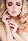 Pretty Woman with Makeup Stock Images
