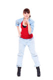 Pretty woman making silence sign Royalty Free Stock Image