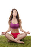 Pretty woman meditating Stock Photography