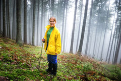 Pretty woman in mistery forest Royalty Free Stock Photos