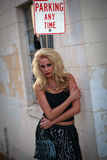 Pretty woman model in urban environment Royalty Free Stock Images