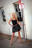 Pretty woman model in urban environment Royalty Free Stock Photo