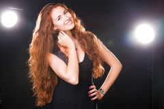 Pretty woman modeling Stock Photo