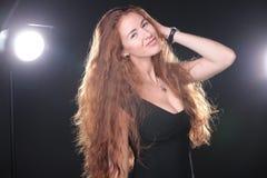Pretty woman modeling Royalty Free Stock Photo