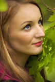 Pretty woman in the nature Royalty Free Stock Photos