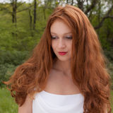 Pretty Woman in Nature Stock Photography