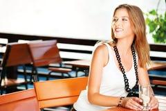 Pretty woman near river Royalty Free Stock Photography