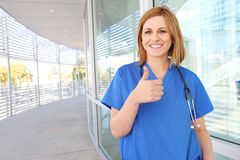 Pretty Woman Nurse at Hospital Stock Images