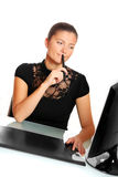 Pretty woman in the office Stock Photography