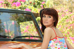 Pretty woman outdoor Royalty Free Stock Photos