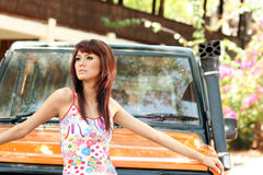 Pretty woman outdoor Royalty Free Stock Photo