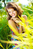 Pretty woman outdoor Royalty Free Stock Image