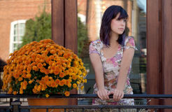 Pretty Woman Outdoors in Early Fall Stock Images