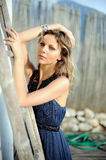 Pretty woman outdoors in sunny summer day Royalty Free Stock Images