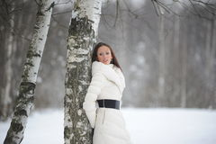 Pretty woman in a park Stock Photography
