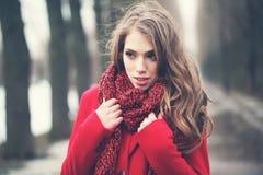 Pretty Woman in Park. Beauty Portrait Stock Image