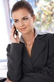 Pretty woman on phone Stock Photo