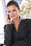 Pretty woman on phone Stock Photo