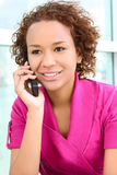Pretty Woman on Phone Royalty Free Stock Photography