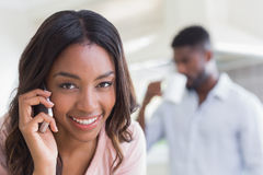 Pretty woman on the phone Royalty Free Stock Photos