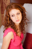 Pretty Woman in Pink Top royalty free stock images