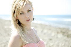 Pretty woman. Portrait of a pretty woman on the beach Stock Photo