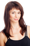 Pretty Woman Portrait. Studio portrait of pretty brunett in sports top Stock Photography