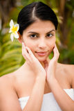 Pretty woman preparing herself for spa day Royalty Free Stock Photo