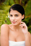 Pretty woman preparing herself for spa day Royalty Free Stock Images