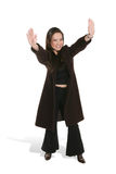 Pretty woman with raised arms Stock Photography