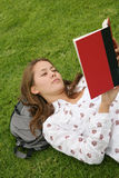 Pretty Woman Reading Stock Photos