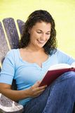 Pretty woman reading. Royalty Free Stock Photo