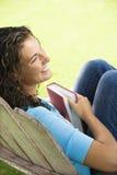 Pretty woman reading. Royalty Free Stock Photo