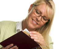 Pretty Woman Reading a Book Stock Photography