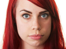 Pretty Woman with Red Hair Royalty Free Stock Images