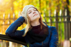 Pretty woman relaxing Royalty Free Stock Photo