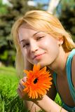 Pretty woman rest in the park Stock Photos