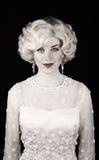 Pretty woman in retro dress Stock Photography