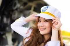 Pretty woman sailor Stock Image