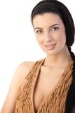 Pretty woman in top royalty free stock photography