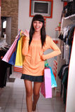 Pretty woman shopping Royalty Free Stock Image