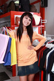 Pretty woman shopping Stock Images