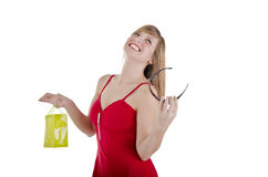 Pretty woman shopping. Royalty Free Stock Photos