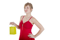 Pretty woman shopping. Stock Photo