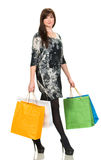 Pretty woman with shopping bags Royalty Free Stock Photos